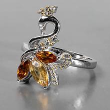 Кольца, серебро и натуральные камни