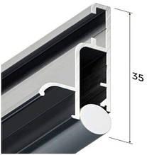 Профіль алюмінієвий для натяжних стель - профіль бесщелевой KRAAB 4.0 (+ шнур) 2 м