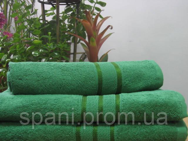 Махровое полотенце 50х70, 100% хлопок 550 гр/м2, Пакистан, Зеленый