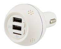 Ароматизатор 3 в 1 / FM модулятор автомобильный от прикуривателя / встроенный фм трансмиттер и 2 USB