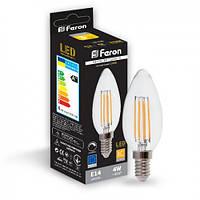 Світлодіодна лампа Feron LB-68 4W 2700K E14 диммируемая, фото 1