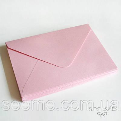 Конверт 175x125 мм, колір рожевий (pink)