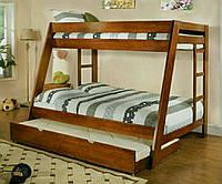 Кровать двухэтажная с ящиками 1210*2060 мм