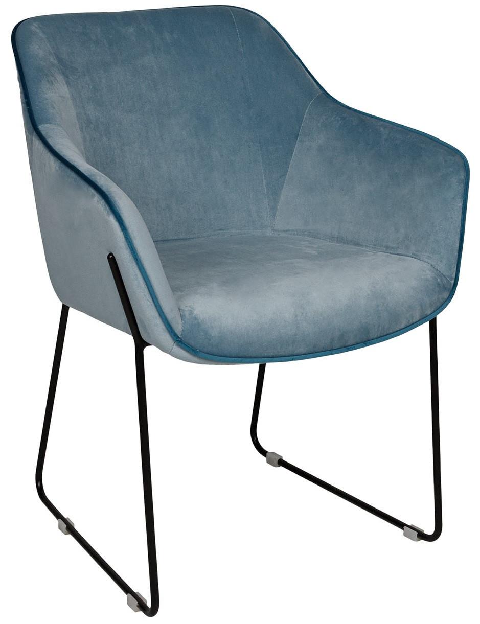 Кресло обеденное Levis голубое ТМ Nicolas