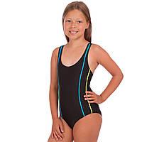Детский слитный купальник для плавания для девочек Zelart Полиамид Эластан Черный (СПО 6038) 28