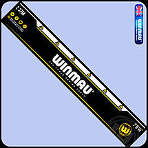 Фирменная  мишень дартс из сизаля WINMAU Diamond Англия + дротики + линия, фото 3