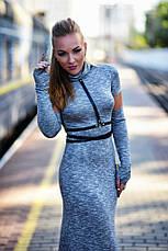 Платье с открытой спиной и перчатками вискоза , фото 3