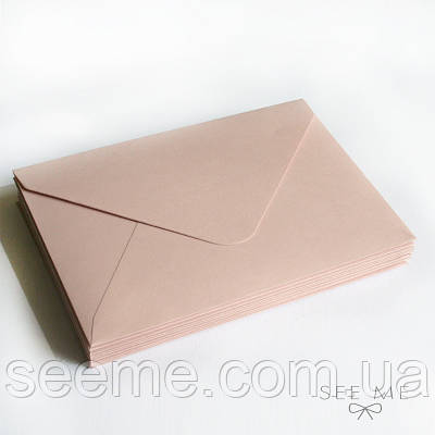 Конверт 175x125 мм, колір тілесно-рожевий (cipria rose)