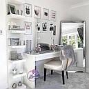 Стол для макияжа с зеркалом на надставке, стол для визажиста, туалетный столик., фото 2