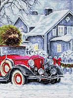 Набор для вышивания нитками LUCA-S Зимние праздники сад (BU4010)