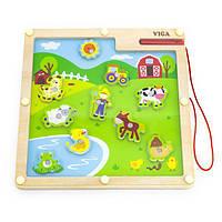 Магнитная настольная игра Viga Toys Ферма (50193), фото 1