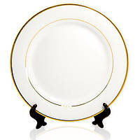 Тарелка для нанесения фото с золотым ободком