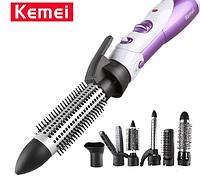 Профессиональный фен для сушки волос 7 в 1 Kemei CFJ-KM-585 / воздушный стайлер для укладки волос