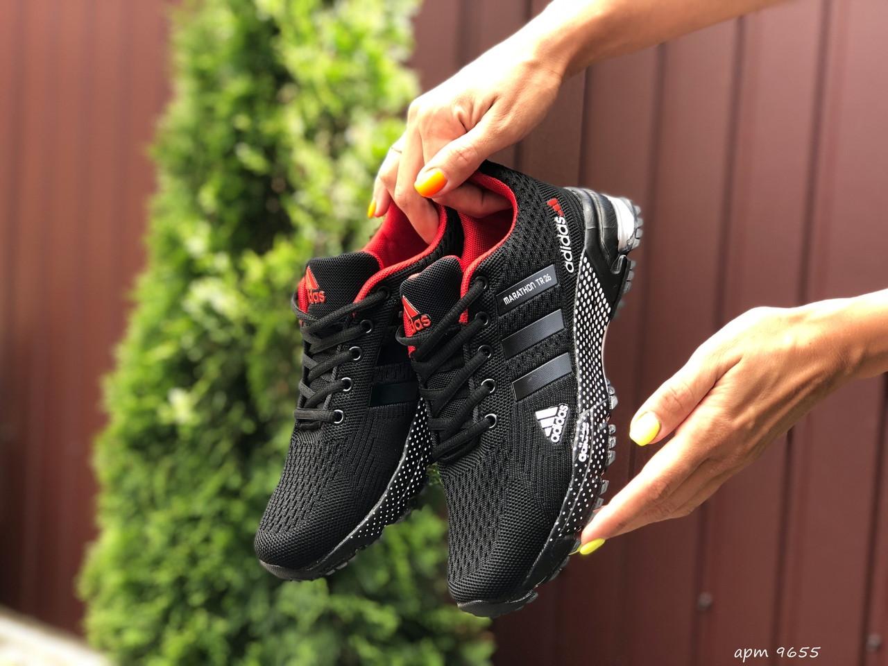 Кроссовки женские Adidas Marathon TR 26 черного цвета