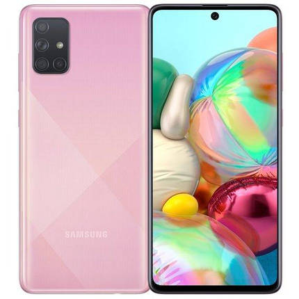 Смартфон Samsung Galaxy A71 8/128GB Pink  EU, фото 2