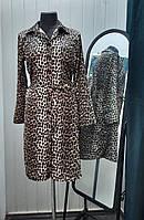 Жіноче леопардове плаття - халат, фото 1