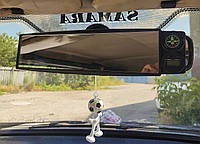 Зеркало в салон авто. Зеркало заднего вида (накладное) с компасом и часами