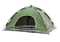 Палатка-автомат с автоматическим каркасом 4-х местная  UTM, цвет зеленая