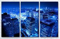 Модульная картина на холсте в гостиную 3 в 1 Япония 60х90 см