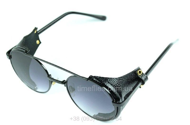 Круглые очки стимпанк Giorgio Armani черные с градиентом AAA Copy