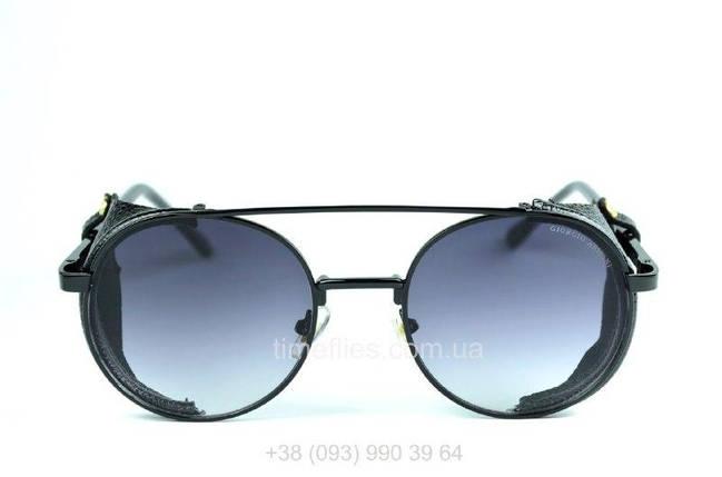 Круглые очки стимпанк Giorgio Armani черные с градиентом AAA Copy, фото 2