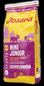 Josera MiniJunior 0,9кг - беззерновой корм с уткой для для щенков с 3-х недель мелких пород