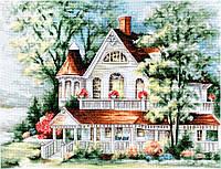 BU4000 Дом у озера. Luca-S. Набор для вышивания нитками