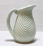Керамическая ваза в виде листа 27.5см