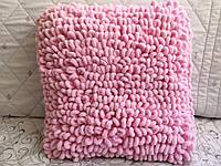 Декоративная вязаная подушка из турецкой пряжи Alize puffy ручной работы