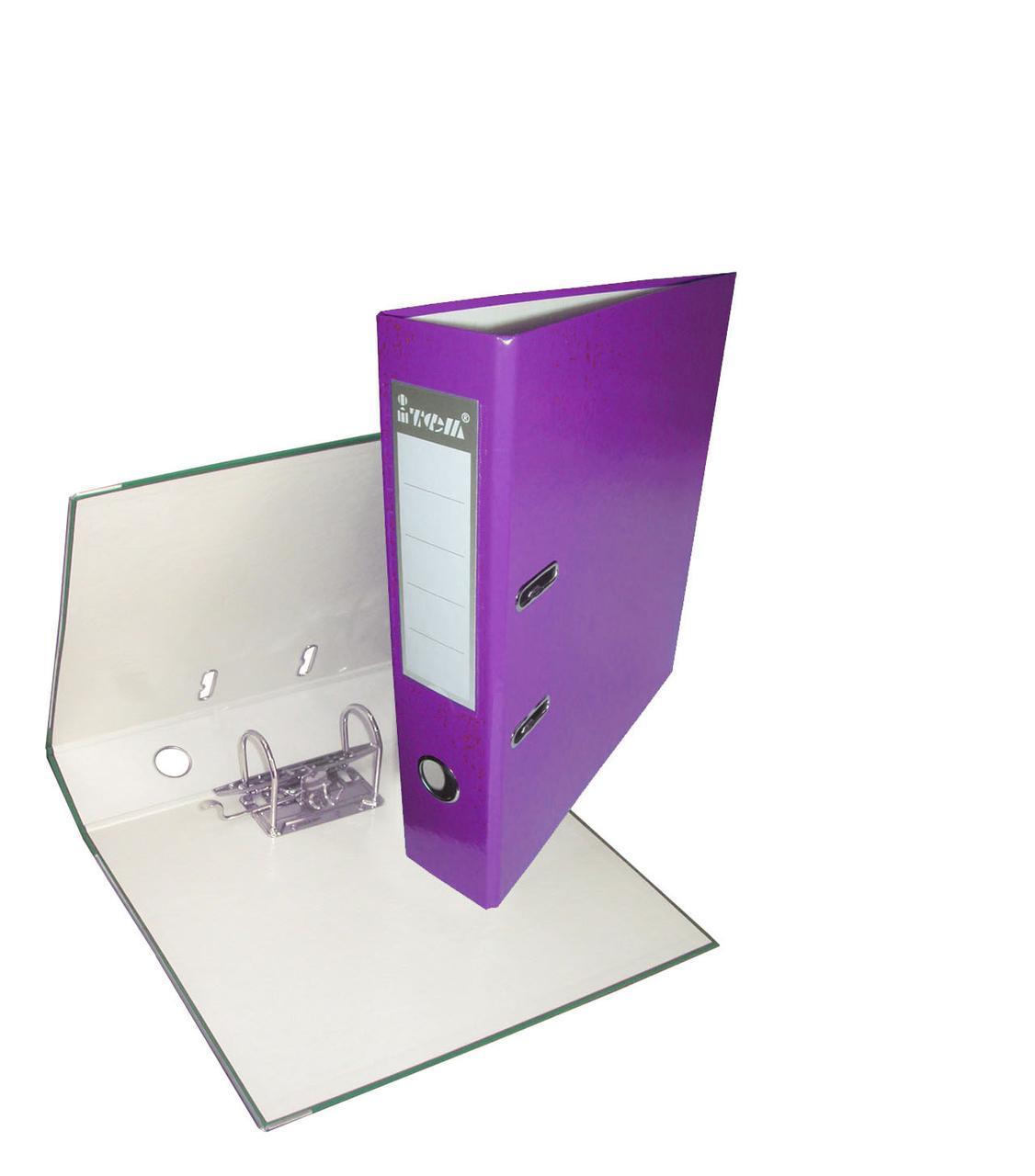 Папка-регистратор, А4, 70 мм, РР-покрытие, кармашек для этикетки, металлический кант