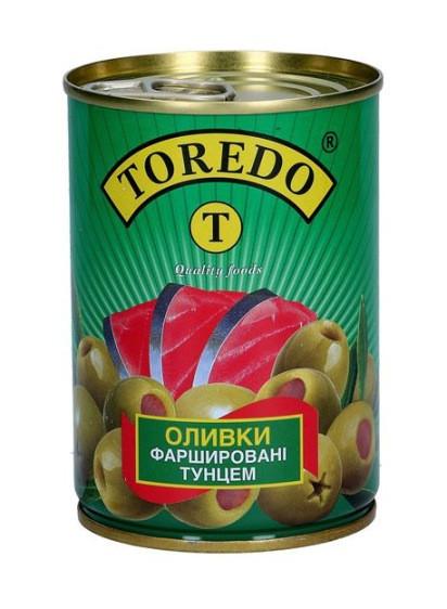 """Оливки фаршеровані тунцем """"Toredo"""" 280 г"""