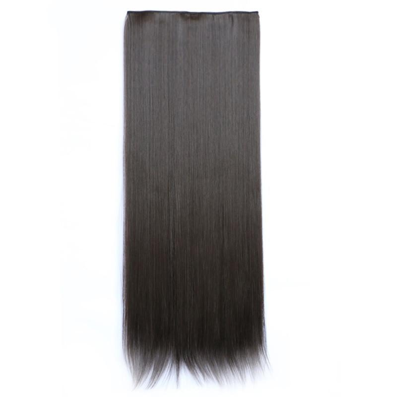 Штучні волосся на заколках. Колір #4А Гіркий шоколад