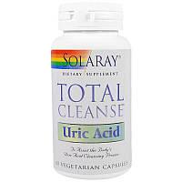 Solaray, Total Cleanse, Uric Acid, очищению организма от мочевой кислоты 60 вегкапсул