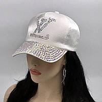 "Женская бейсболка ""Louis Vuitton"" (белый перламутр)"