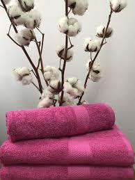 Махровое полотенце 70х140, 100% хлопок 550 гр/м2, Пакистан, Фуксия
