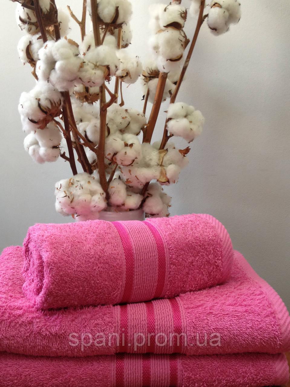 Махровое полотенце 70х140, 100% хлопок 550 гр/м2, Пакистан, Розовый