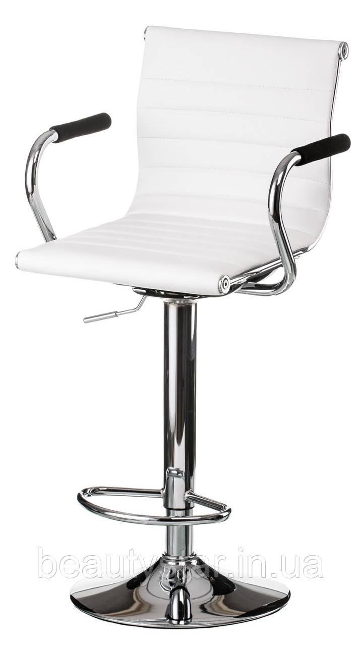 Барный высокий стул белый Special4You Bar White plate для визажа