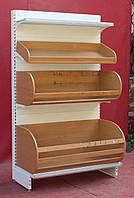 Торговые хлебные стеллажи «Арлекс» 210х123 см., белый, Б/у, фото 1