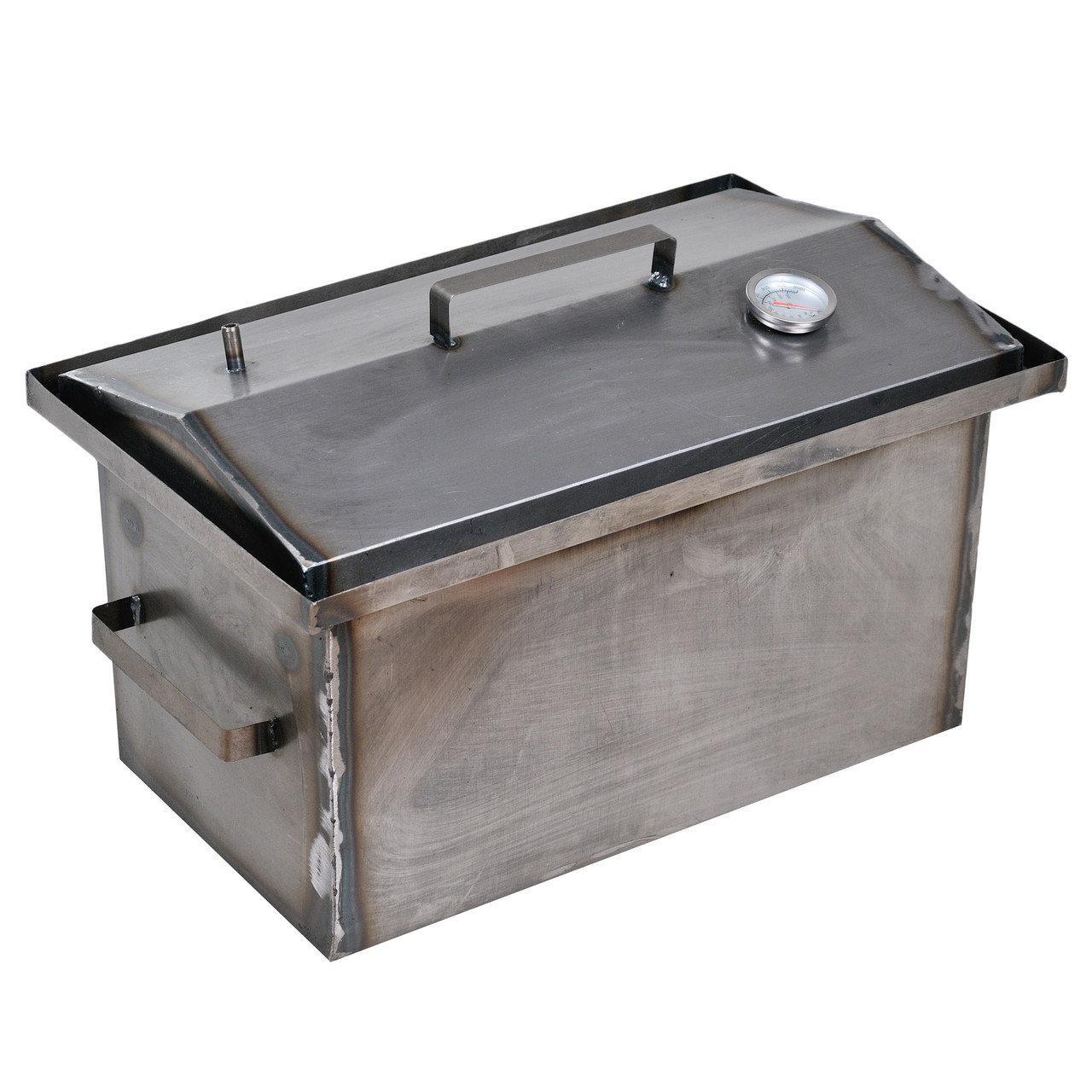 Коптильня горячего копчения 1мм 520х310х260мм с термометром (коптилка,каптилка)