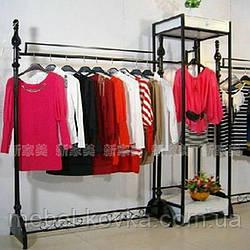 Металлические напольные вешалки для продажи одежды