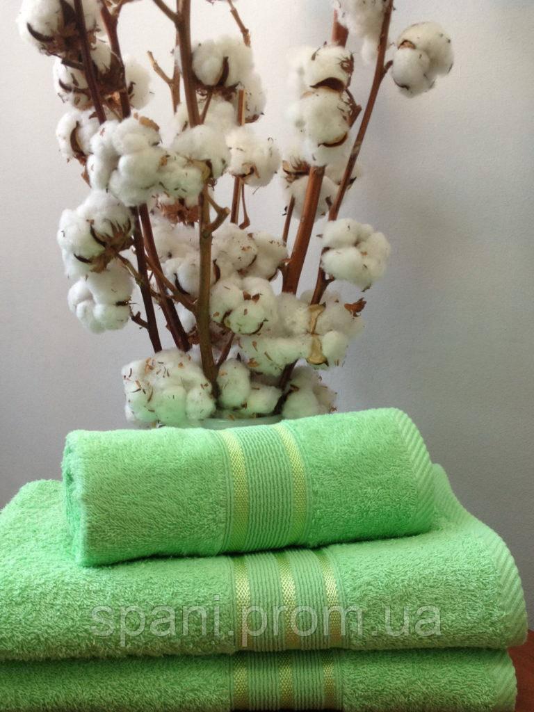 Махровое полотенце 50х100, 100% хлопок 550 гр/м2, Пакистан, Светлый зеленый