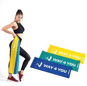 Набор Эластичных лент для фитнеса Way4you Set of 3