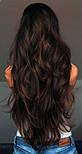 Штучні волосся на заколках. Колір #4А Гіркий шоколад, фото 3