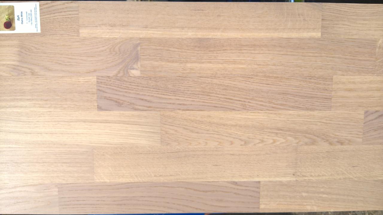 Дуб OSTRO WHITE 3 пол.  Паркетная доска Focus Floor