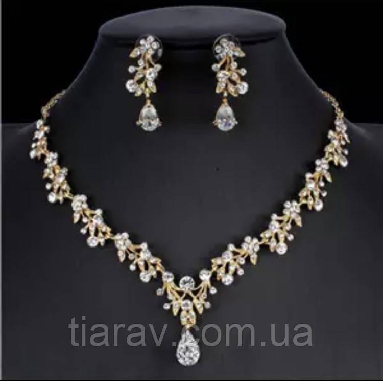 Свадебная бижутерия, колье и серьги, ожерелье
