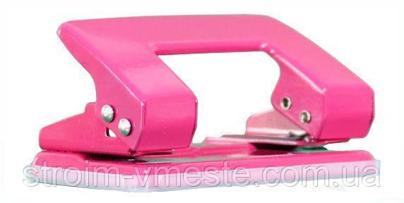 Дырокол для бумаги с фиксатором NORMA 4325 8 см 10 л розовый