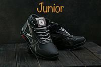 Подростковые кроссовки кожаные зимние черные CrosSAV 50