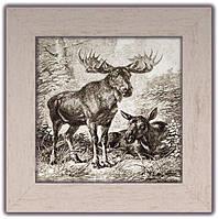"""Картина класична """"Полювання"""" Лосі"""