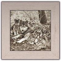 """Картина класична """"Полювання"""" Вовки"""
