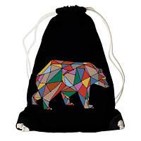 Рюкзак мешок молодежный спортивный черный Медведь